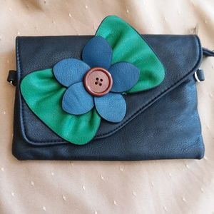 Cute Clutch or small bag with Bow and Fower